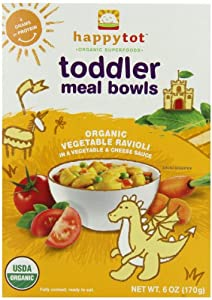 Happy Tot Toddler Meal Bowls, Vegetable Ravioli, 6 Ounce Boxes (Pack of 12)