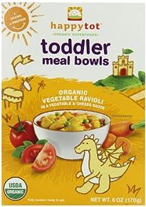 (史低)Happy Tot Toddler Meal Bowls禧贝宝宝有机营养蔬菜小方饺12包ss后$30.68