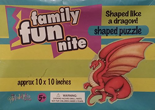 "Family Fun Nite ""Dragon"" Shaped 60 Piece Jigsaw Puzzle"
