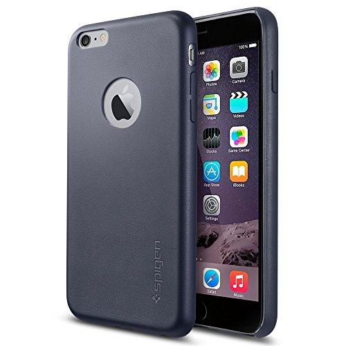 iPhone 6 Plus Case, Spigen?? [Leather Fit] Premium Synthetic Leather [Midnight Blue] Premium Synthetic Leather Case for iPhone 6 Plus (2014) - Midnight Blue (SGP11397)