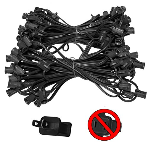 100-C7-Commercial-Light-Stringer-SPT2-Black-Wire-12-Spacing