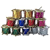 Christmas Decoration Multicolored Hanging Drums - Set Of 12