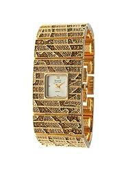 Kenneth Jay Lane Women's KJ4376-G Gold-Tone Square Case Bracelet Watch