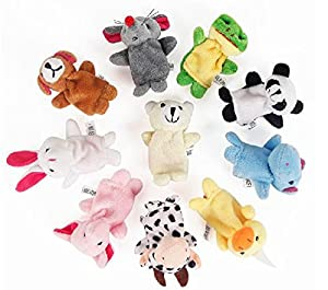 10PCS A SET Finger Puppet/Dolls/Toys Story-telling Props/Tools Toy Model Babies/Kids/Children Toys,Land animals by Viskey