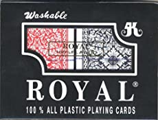 ROYAL 100% PLASTIC POKER SIZE CARDS 2 DECK SET