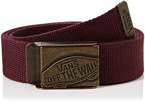 Vans - Conductor Web Belt, Cintura Uomo, Rosso (Port), Taglia unica (Taglia Produttore: One Size)