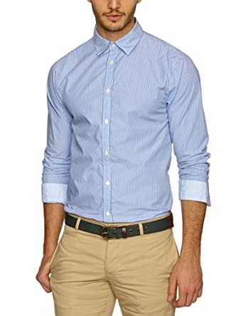 Scotch & Soda Long Sleeve Serie with Oxford Elbowpatches Men's Shirt Dessin B XX-Large