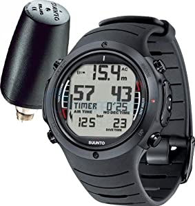 Buy Suunto Mens D6i ALL-BLACK W  TRANSMITTER AND USB Athletic Watches by Suunto