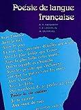 Poesie De Langue Francaise (French Edition)