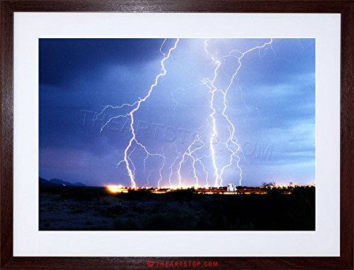 PHOTO LIGHTNING FORK ELECTRIC STORM COOL FRAMED PRINT F12X4239 (Lightning Foto compare prices)