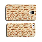 Traditional Jewish holiday food - Passover matzo background cell phone cover case Samsung S5