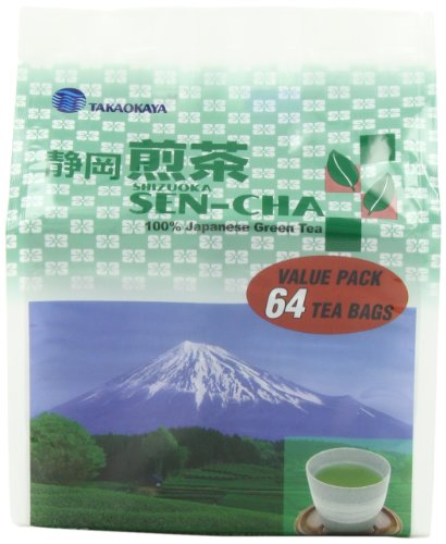 Takaokaya Tea T Green Sencha, Teabags, 64-Count Units (Pack Of 4)