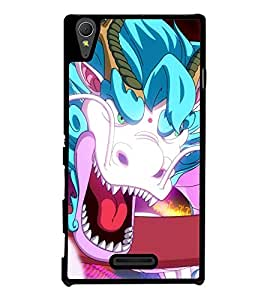 Fierce Dragon 2D Hard Polycarbonate Designer Back Case Cover for Sony Xperia T3