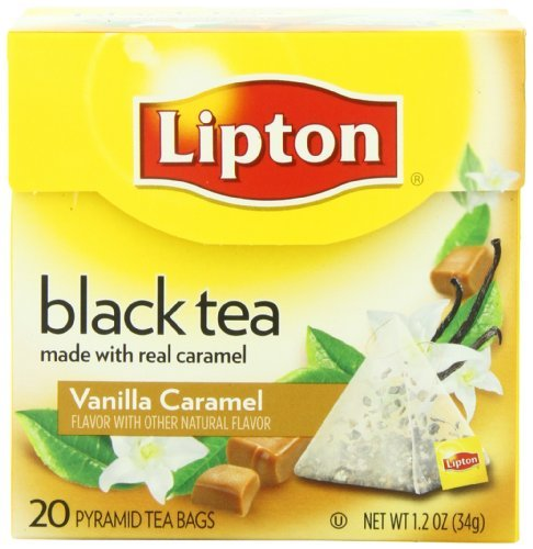 Lipton Black Tea, Vanilla Caramel, Premium Pyramid Tea Bag, 20 Count Box, Garden, Lawn, Maintenance