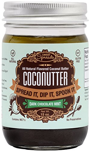 Sweet Spreads Coconutter, Dark Chocolate Mint, 15 Ounce bulk save santa cruz organic mint chocolate syrup 12 to 48 packs each 15 5oz