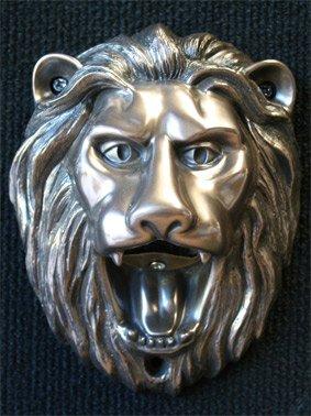 Wall Mounted Novelty Bottle Opener 'Roaring Lion' - Satin Bronze metallic finish (Outdoor or Indoor Use)