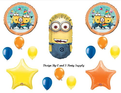 DESPICABLE ME 2 MINIONS Happy Birthday PARTY Balloons Decorations Supplies