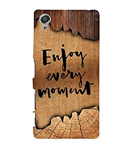 Enjoy Every Moment Cute Fashion 3D Hard Polycarbonate Designer Back Case Cover for Sony Xperia X :: Sony Xperia X Dual F5122