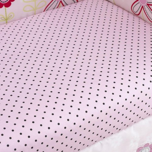 Too Good by Jenny McCarthy Pretty in Pink Fitted Crib Sheet
