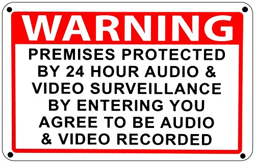 Home Security Sign Video Surveillance Audio Amp Video Camera