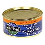 Wild Planet Wild Albacore Tuna, Minimal Mercury, 6-Ounce Cans (Pack of 6)