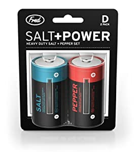 Fred and Friends SALT AND POWER Salt and Pepper Set