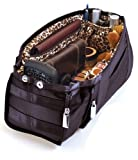 Pursfection EXPANDABLE Purse Organizer - Black/Leopard
