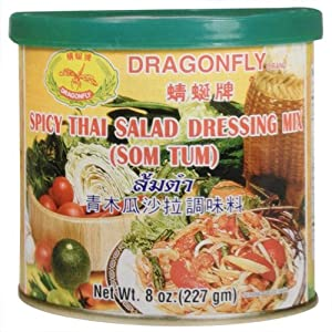 Dragonfly Spicy Thai Salad Dressing Mix (Som Tum), 8-Ounce (Pack of 3) by Monstra LLC (dba Pacific Rim Gourmet)