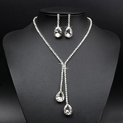 Women's Wedding Jewellery Sets Fashion Bride Earrings & Necklace