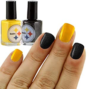 KE Specialties Pittsburgh Steelers Team Colors Nail Polish - Set of 2