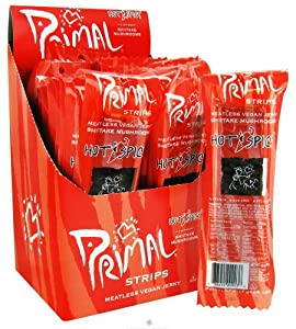 Primal Strips Meatless Jerky Hot & Spicy 1 oz. (Pack of 24) from Primal Strips