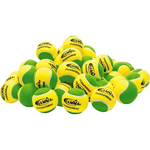 Gamma Sports Pressureless Practice Tennis Balls - Pack of 60