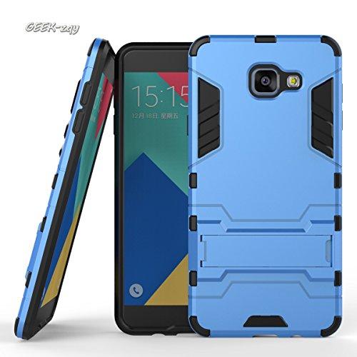 Galaxy A710Schutzhülle, Advanced Dual Layer Hybrid Armor Schutzhülle, geek-zqy Galaxy A710Fall, [Slim Fit] [verhindern Falling] Advanced Stoßdämpfung Schutz mit Ständer Funktion, Kunststoff, blau, galaxy A710