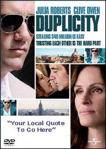 Duplicity [DVD]