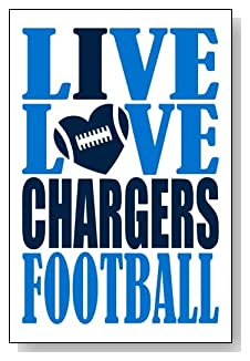 Live Love I Heart Chargers Football lined journal - any occasion gift idea for Los Angeles Chargers fans from WriteDrawDesign.com