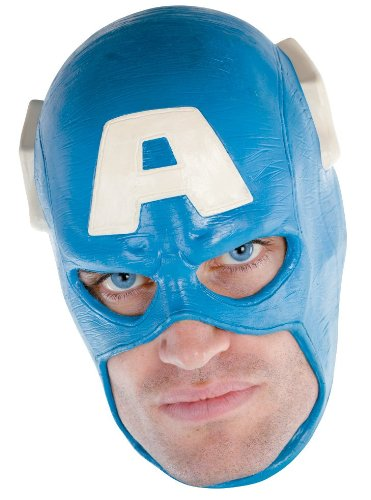 Lets Party By Disguise Inc Captain America Vinyl Deluxe Adult Mask / Blue - One Size