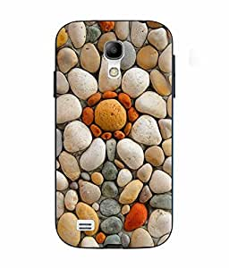 Case Cover Stone Printed Yellow Soft Silicon Back Cover For Samsung Galaxy S4 Mini