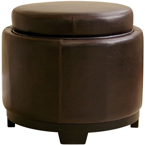 cheap discount round leather ottoman online wholesale interiors