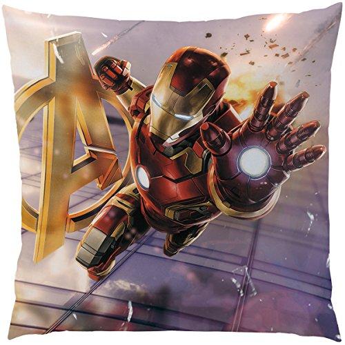 CTI 042762 - Cuscino in poliestere, fantasia: Avengers Age of Ultron, 40 x 40 x 2 cm, multicolore