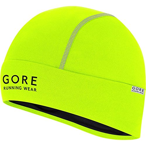 GORE RUNNING WEAR, Berretto Corsa Uomo, Leggero, GORE Selected Fabrics, ESSENTIAL Light, Taglia Unica, Giallo, HESSNL080002