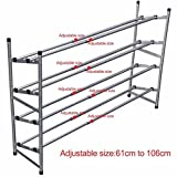 Stackable 4 Tiers Metal Shoe Utility Rack for Adults and Children