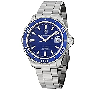 TAG Heuer Men's WAK2111.BA0830 Aquaracer 500 Analog Display Swiss Automatic Silver Watch