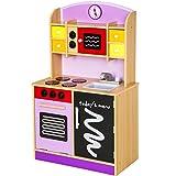 TecTake Cocina de madera de juguete para ni�os juguete juego de rol toy p�rpura