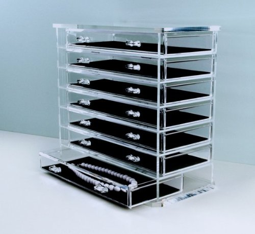 "Acrylic Deluxe 7-Drawer Jewelry Chest (Clear) (11 7/8""H x 12 5/8""W x 6 1/2""D)"
