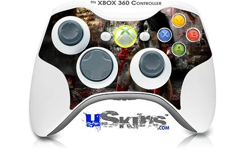 XBOX 360 Wireless Controller Decal Style Skin - Exterminating Angel - CONTROLLER NOT INCLUDED (OEM Packaging) wood grain oak 01 holiday bundle decal style skin set fits xbox one console kinect and 2 controllers xbox system sold separately