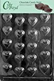 Cybrtrayd V001 Bite Size Hearts Chocolate Candy Mold with Exclusive Cybrtrayd Copyrighted Chocolate Molding Instructions