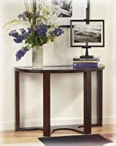 Hot Sale Signature Design by Ashley Marion Dark Brown Glass Sofa Table