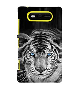 EPICCASE White tiger Mobile Back Case Cover For Nokia Lumia 820 (Designer Case)