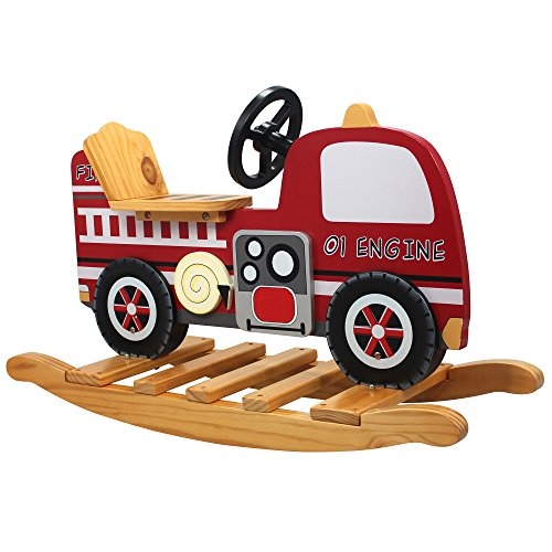 Teamson Kids - Trains & Trucks Fire Engine Rocker - 1
