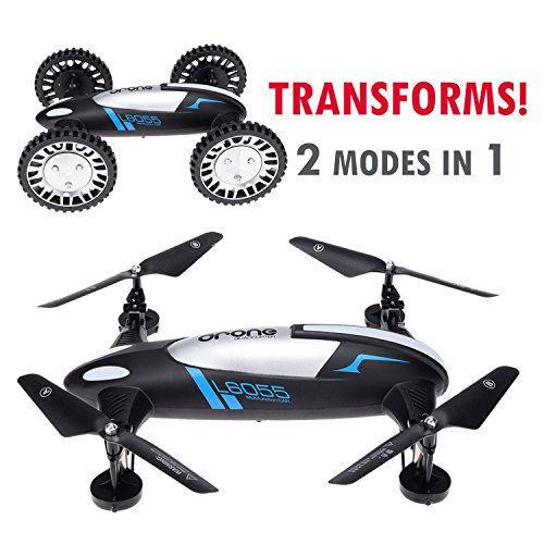 CyberTech-2-in-1-Car-and-Fly-RC-Racing-Car-RC-Quadcopter-Drone-RTF-24GHz-6-Gyro-SystemSupport-Headless-flying-mode2-Li-Polymer-Batteries-included-WiFi-camera-and-mobile-are-sold-separately